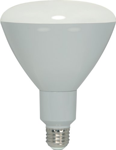 Satco S9181 LED BR40 3000K 103' Beam Spread Medium Base Dimmable Light Bulb, 17W