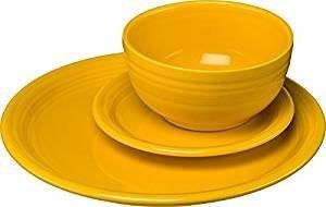 Fiestaware 3 Piece Bistro Set Daffodil 1482342 (Fiestaware Salad)