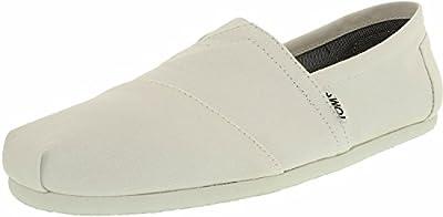 TOMS Men's Alpargata Canvas M Optic White Ankle-High Flat Shoe - 10.5M