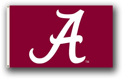 - NCAA Alabama Crimson Tide A Logo 3-by-5 Foot Flag with Grommets