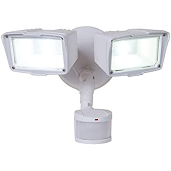Utilitech pro 180 degree 2 head bronze led motion activated flood all pro mst18920lw 180 degree motion activated twin head led floodlight white aloadofball Image collections
