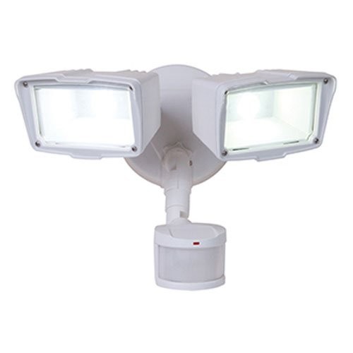 ALL-PRO MST18920LW, 180x2070; Motion Activated Twin Head LED Floodlight, White