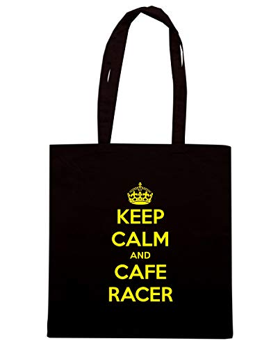 Borsa Shopper CAFE TB0181 VINTAGE AND CALM RACER KEEP Nera rHBnr