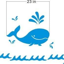 Wall Stickers in Whales playing shape