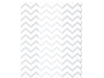 Cello Bags White Chevron Large - Pack of 20