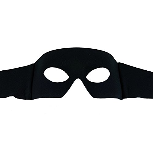 Samantha Peach Zorro Black Mens Masquerade Mask - Italian from