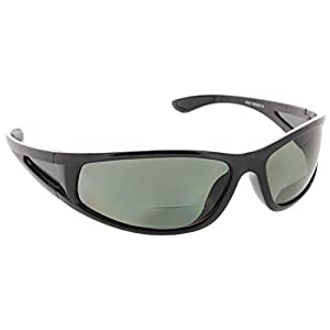 Fiore Oceanside Polarized Wrap Nearly Invisible Line Bifocal Sunglass Readers