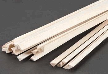 Balsa Wood Triangle Stock 3/8 X 36in (10) BWS1923 Balsa Triangle