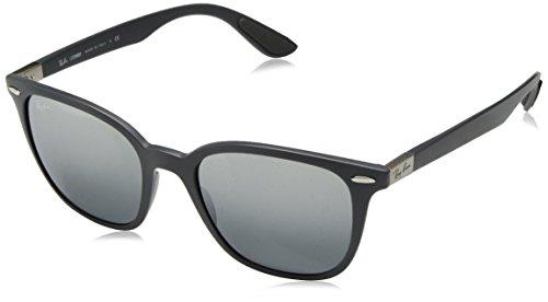 Ray-Ban RB4297 Square Sunglasses, Matte Dark Grey/Grey Gradient Mirror, 51 -