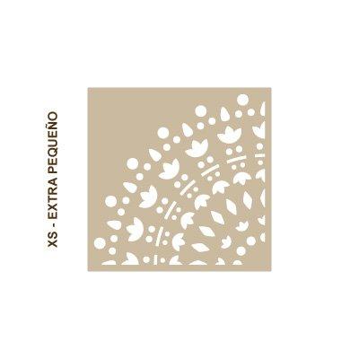 dise/ño 28x28 cm Tama/ño extra peque/ño: stencil 30x30 cm Stencil Pared Roseton 004 figura 28x28 cm