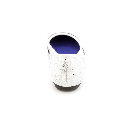 Flats Style Design Silver Zipper Co amp; Womens Lottie 7 Size 5 YYXP4