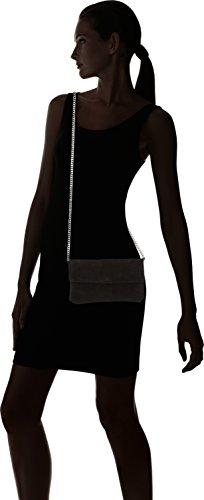 PIECES Damen Pcnatta Suede Cross Body Umhängetasche, Schwarz (Black), 1x14x23 cm