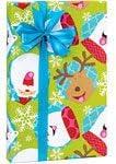 SANTA REINDEER POLAR BEAR SNOWFLAKE Christmas Gift Wrap Paper - 16 Foot Roll