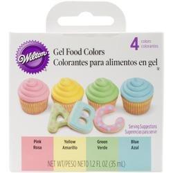Bulk Buy: Wilton Gel Food Coloring Set 4/Pkg-Easter (6-Pack)