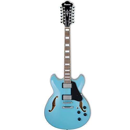 Ibanez AS7312 Artcore 12-String Hollow Electric Guitar – Mint Blue