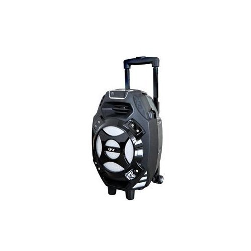 Qfx Pbx-61081bt-sil Portable Tailgate Speaker With Fm Radio,