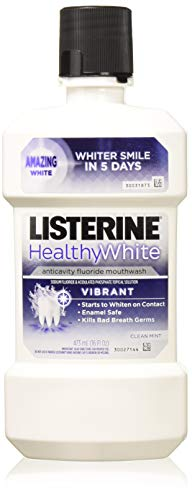 Listerine Healthy White Vibrant Multi-Action Rinse For Whitening Teeth 16 Oz (3 Packs) ()