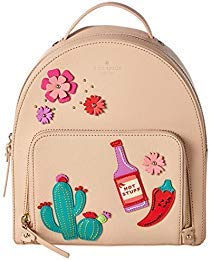 Kate Spade Cactus Tomi New Horizons Cashew Saffiano Leather Small Backpack