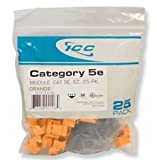 Icc Ic107E5Cor - 25Pk Cat5 Jack - Orange