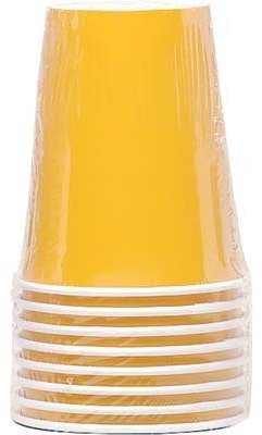 Bulk Buys Hot-Cold Cup 8 Ct Yellow - Case of 12