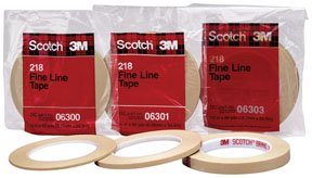 Scotch Fine Line Tape 218 Green, 3/8 in x 60 yd 4.7 mil (Pack of 1) (Green Scotch Lacquer Masking Tape)