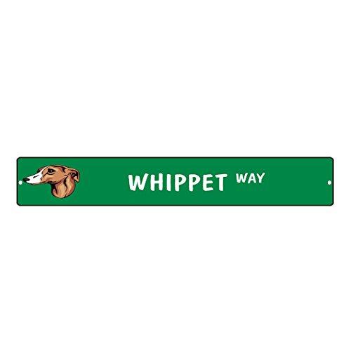 WHIPPET DOG WAY Street Sign DECAL Sticker 8x2