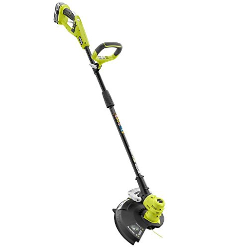 18-Volt Lithium-Ion Cordless String Trimmer/Edger P2080 -4.0 Ah Battery and Charger Included by **RYOBI***