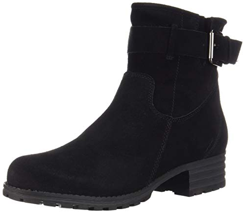 a Amber Fashion Boot, Black Suede, 070 M US ()