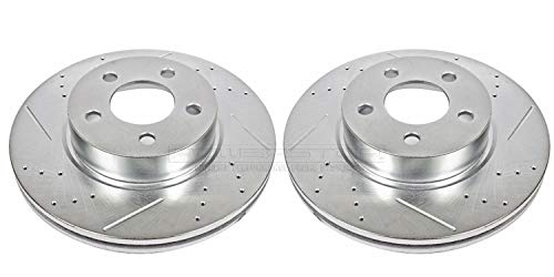 Power Stop AR8586XPR Front Evolution Drilled & Slotted Rotor Pair