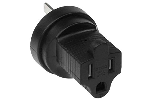 SF Cable, 3 prong Power Plug Adapter, Australia to NEMA (Australia Plug)