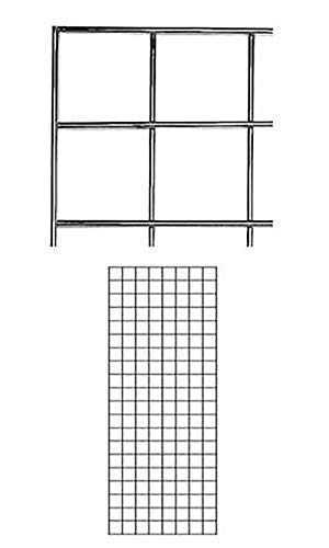 - 2' X 5' Wire Grid Panel - Chrome