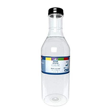 Ralph's Dye Free Silver Fox Snow Cone Syrup | 32oz (Quart) | Made With Pure Sugar | Easy Pour & Store Flip Cap Included (Pre-Attached)