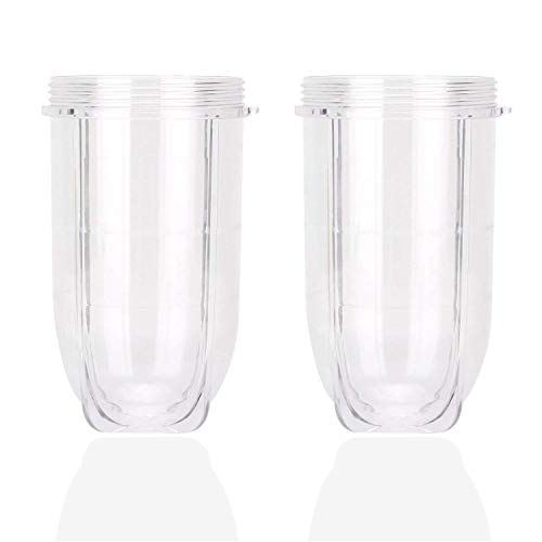 0fdb06c63799 16OZ MB1001 Cups Compatible with 250W Magic Bullet Blender Mixer Juicer,  Clear Plastic Tall Blending Large Replacement Parts by Wadoy - 2 x Tall Cup