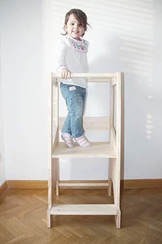Torre de aprendizaje Montessori - Regulable en altura - Adaptativa - Montessori Tower: Amazon.es: Handmade