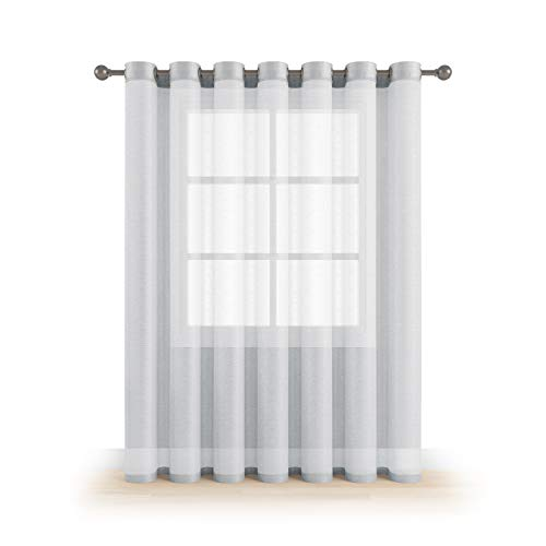 Cheap  Grommet Semi Sheer Luxury 1 Double Wide Curtain Panel Window Home Decor..