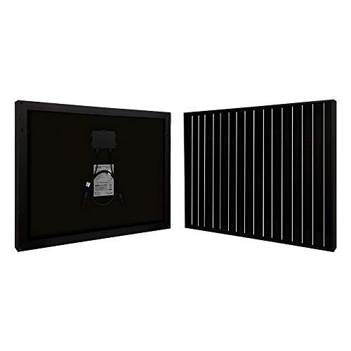 Richsolar Black 50 Watt 12 Volt Off Grid Portable Monocrystalline Solar Panel for RV Marine Boat (50W)