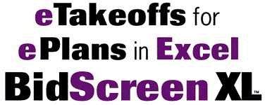 BidScreen XL Onscreen Measuring in Excel