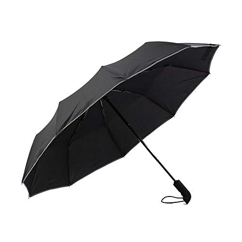 Sun Umbrella, Reflective Umbrella 23 Inch Ten Bone Automatic Umbrella Night Line Safety Business Umbrella Suitable for Men and Women Easy to Carry (Four - Assembly Ladies Rib