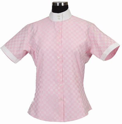 Equine Couture Women's Lyn Coolmax Dressage Shirt, Pink, 32
