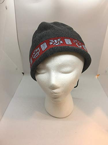 83643dd8e36 Amazon.com  Shred Alert Gear Gray with Red Aztec Faces One Size Knit  Polyester Hat Beanie  Sports   Outdoors