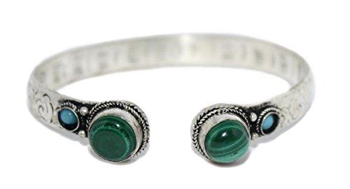 Malachite Bracelet Gypsy Bracelet Nepal Bracelet Tibetan Bracelet Cuff Bracelet