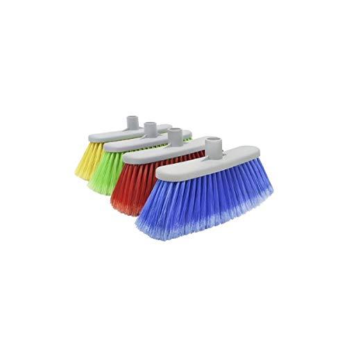 terrazo etc Hilados Cepillo-Escoba Ideal para el Barrido de Cualquier Tipo de Superficie y en Especial Suelos de gres m/ármol Unico Amarillo//Azul//Verde//Rojo