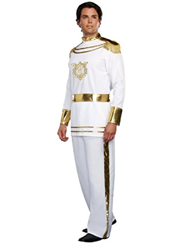 Dreamgirl Men's Fairytale Prince Costume, White, XX-Large