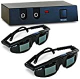 Gen 2 3D Movie Viewing Theater by Razor 3D with 2 Pair Wired Shutter Glasses