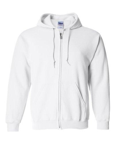Gildan Printing Heavy Blend Full-Zip Hoodie, WHITE, Medium