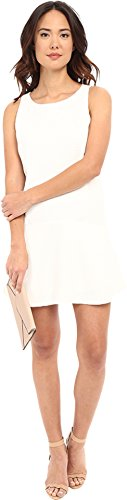 BB Dakota Women's Raven Tank Dress with Patch Pockets, Dirty White, Small (White Dress For Teenager)
