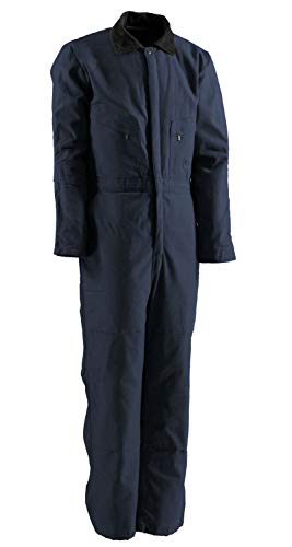 - Berne I414 Men's Deluxe Insulated Coverall Twill, Navy - Medium/Tall