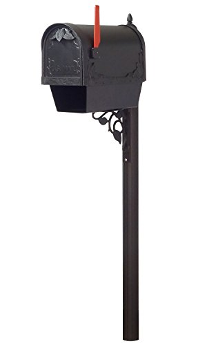 Special Lite Products Company Floral Curbside Mailbox With Newspaper Tube And Albion Mailbox (Special Lite Floral Curbside Mailbox)