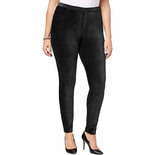 Style & Co. Womens Plus Corduroy Curvy Leggings Black ()