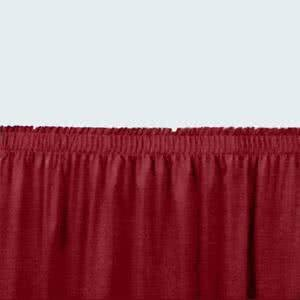- Tabletop king Seating SS32-36 Burgundy Shirred Stage Skirt for 32